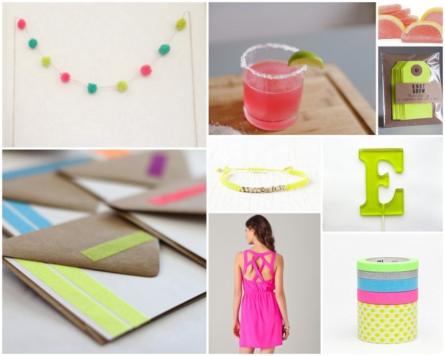neon party bright yellow hot pink candy summer trend shower