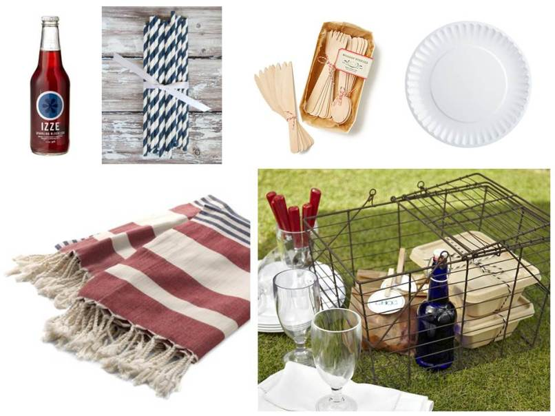 Chic supplies for a 4th of July Picnic