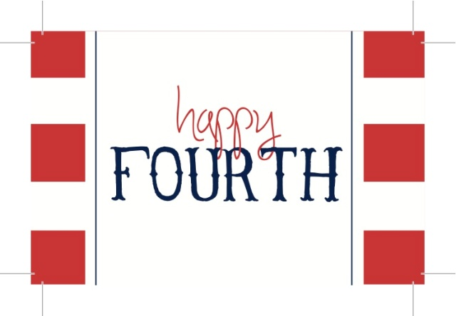 {Happy Fourth} 4th of July Tag - Free Printable