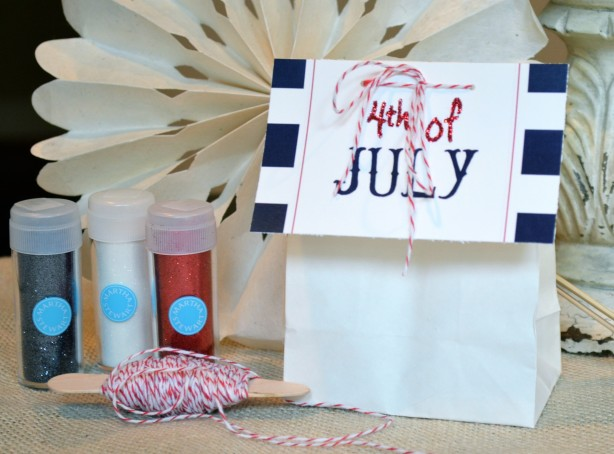 DIY Free download - July 4th Tags - Stripes & Glitter