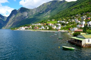 Village in Norwegian fjord. Picture from One Charming Life