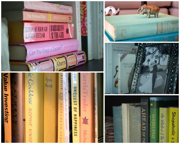 Color-Coded Bookshelf via One Charming Life #ColorBlock