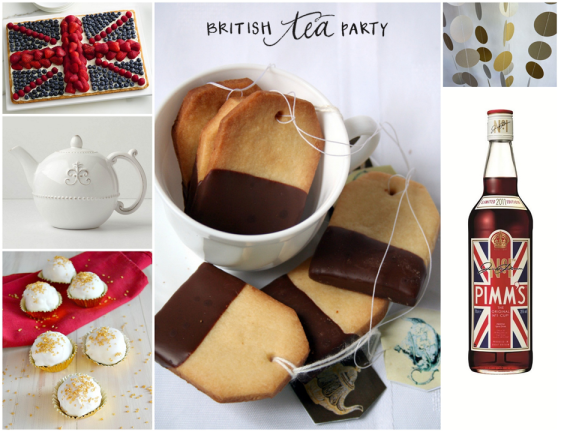 British Tea Party in honor of the Olympics - from One Charming Life