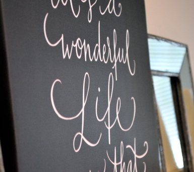 """Wonderful Life"" - calligraphy print via One Charming Life"