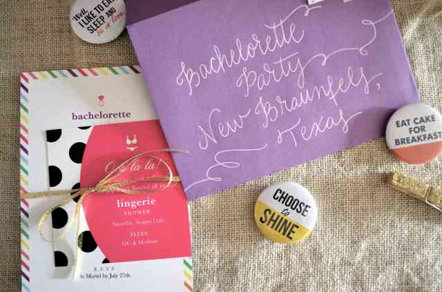 Kate Spade - Inspired Bachelorette Party Invitations via One Charming Life