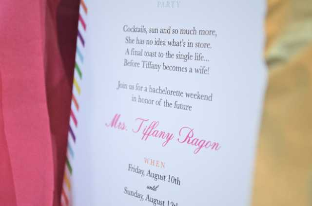 Invitation Inspired by Kate Spade via One Charming Life