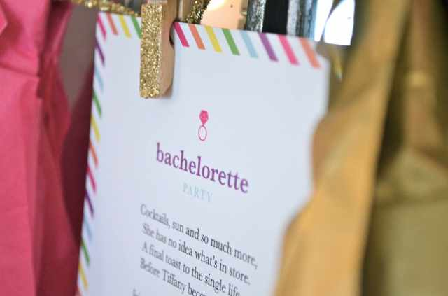 Colorful Bachelorette Party Invitation - Inspired by Kate Spade