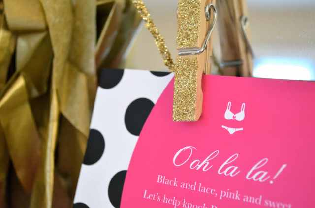 Lingerie Shower Invitation Inspired by Kate Spade via One Charming Life