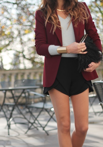 maroon jacket - Fall 2012 Trend - Burgundy