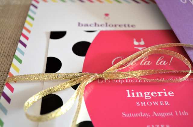 Bachelorette Party Invite Inspired by Kate Spade via One Charming Life