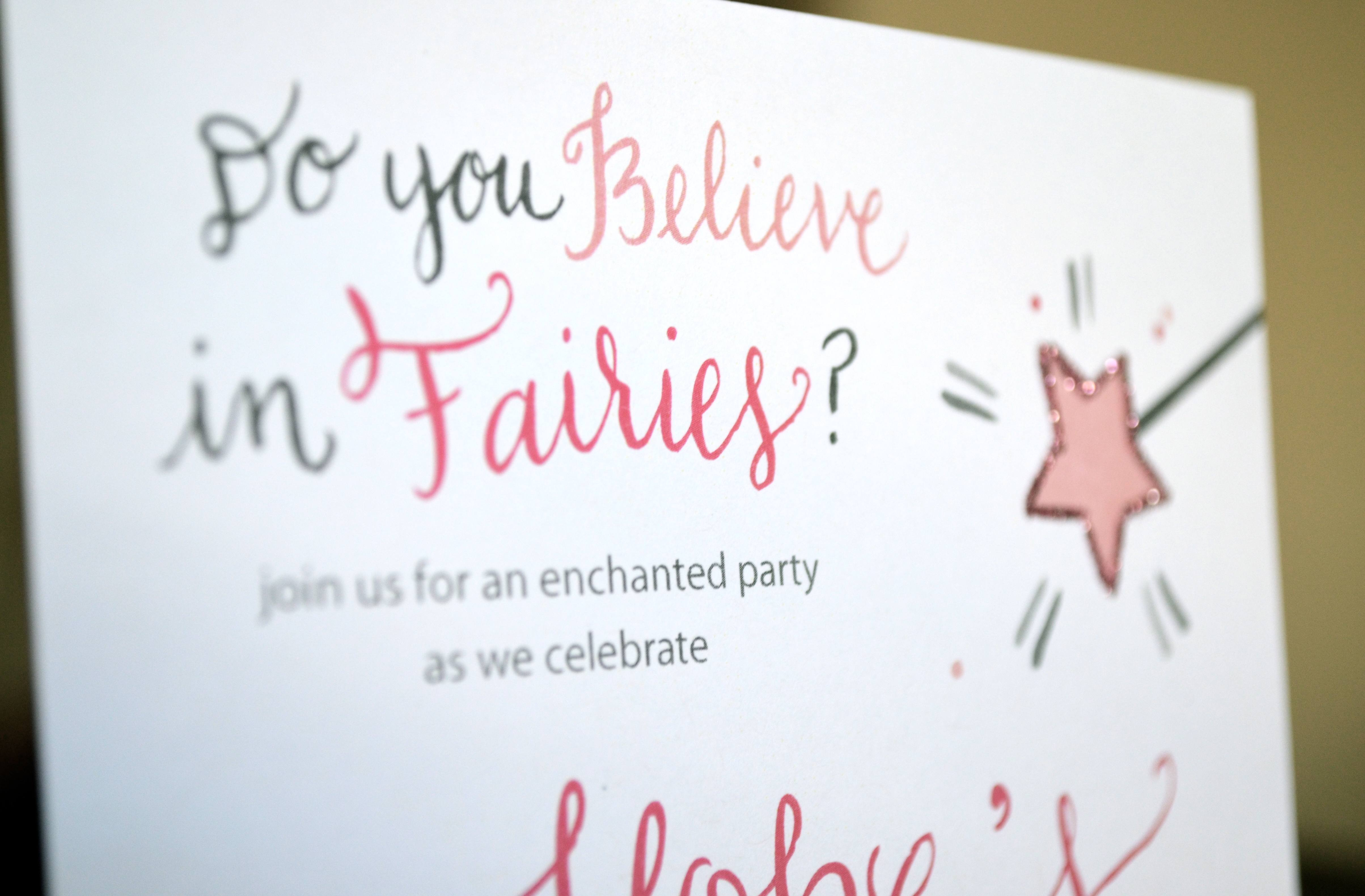 Fairy Birthday Invitations for awesome invitations design