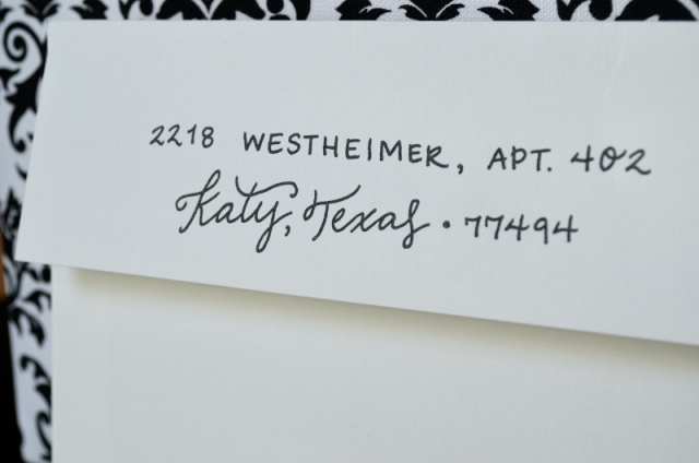 Save the Date Envelope Lettering - One Charming Life