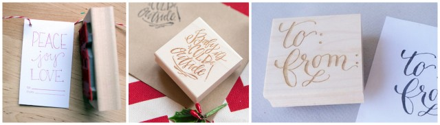 charming holiday rubber stamps