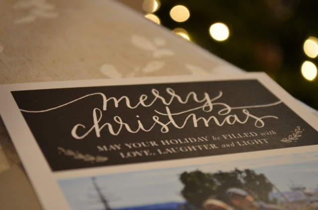 merry christmas - calligraphy holiday cards