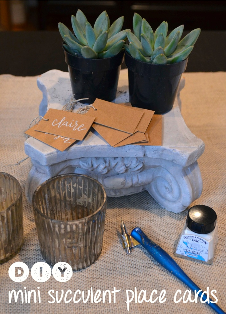 DIY Succulent Place Cards from One Charming Life