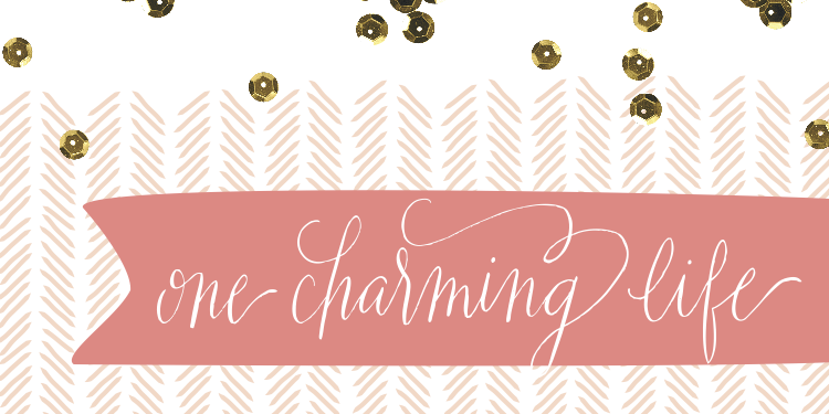 One Charming Life // Pink and Gold Blog Header