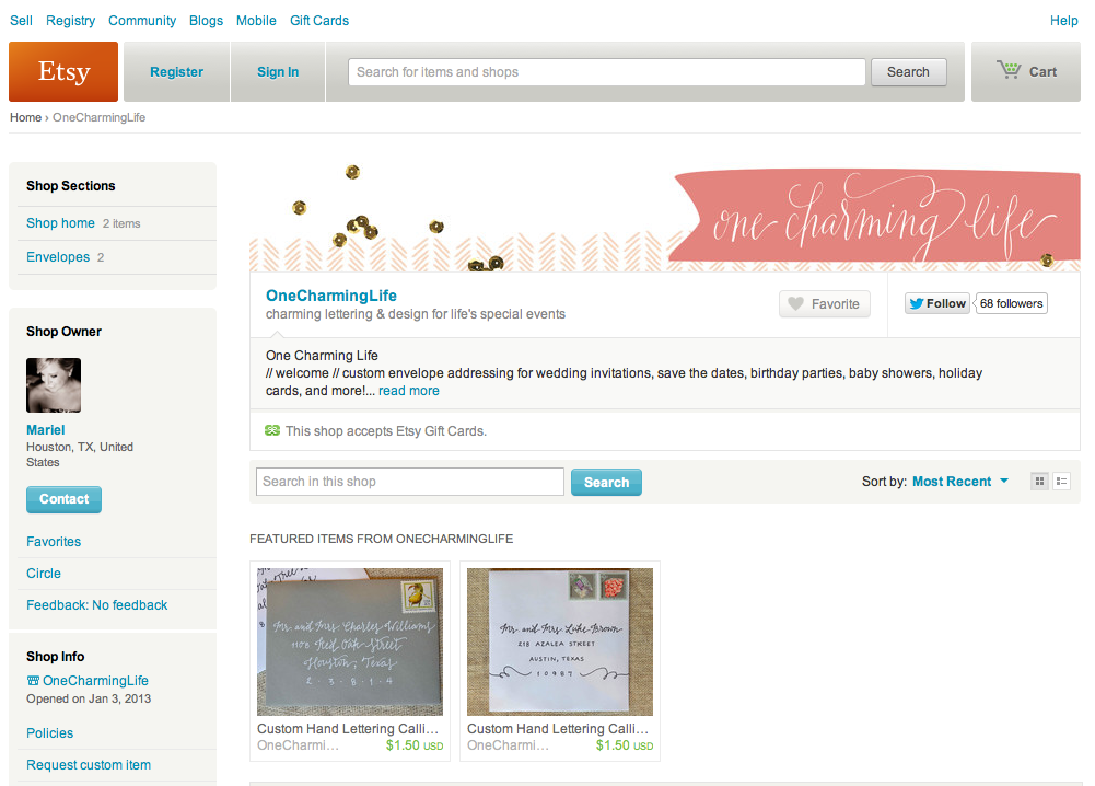 one charming life now on etsy
