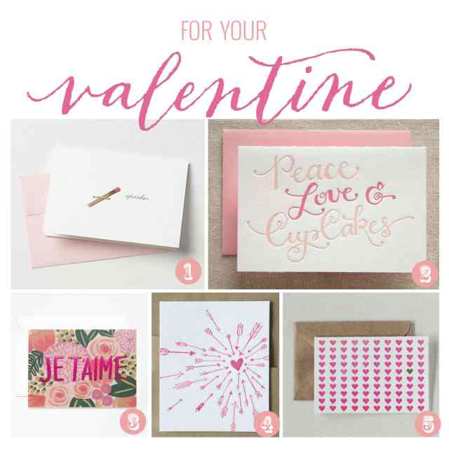Valentines day cards handpicked by one charming life